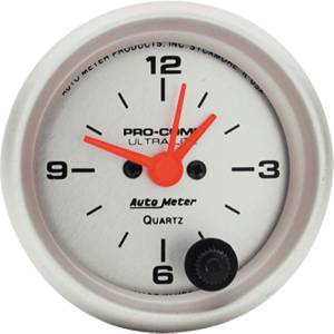 "Instrument Gauges - Auto Meter Ultra Lite Series 2-1/16"" Electric Clock Photo Main"