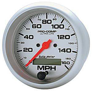 "Instrument Gauges - Auto Meter Ultra Lite Series 3-3/8"" 0-160 Mph Electronic/ Programmable Speedometer Photo Main"