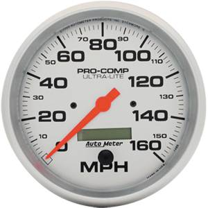 "Instrument Gauges - Auto Meter Ultra Lite Series 5"" 0-160 Mph Electronic/ Programmable Speedometer Photo Main"