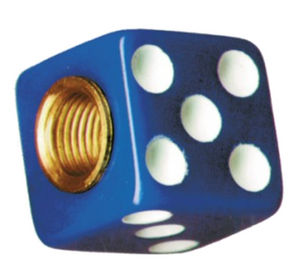 Dice Valve Stem Caps- Blue With White Dots Photo Main