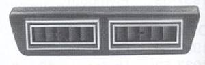 "Air Conditioning Vent - Under Dash, Rectangular Double Vent (2"" X 10"") Photo Main"