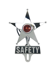 License Plate Topper- Safety Star Amber Led Photo Main