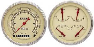 "Instrument Gauges - 5"" Speedo & Quad-Cluster - Vintage Series With Curved Lens 12v Photo Main"