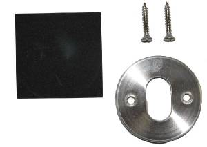 Trim Plate - Solid, Round Plate With Oval Hole Photo Main