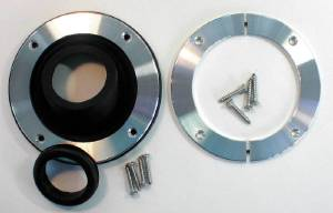 Steering Column Trim Plate -Solid, Round Plate With Round Hole.  Photo Main