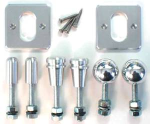 Door Latch Release Kit -Square Plate. Choose Smooth, Turned Or Ball Neat Nob Photo Main