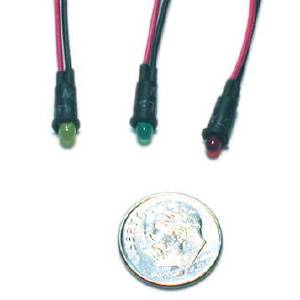 "Led Indicator Light. Red, Green Or Amber. 1/4"" Diameter Photo Main"