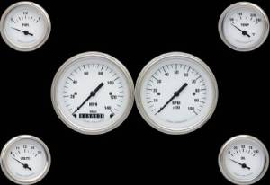 Instrument Gauges - (6 Gauge Set) - White Hot Series 12v Photo Main