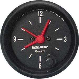 "Instrument Gauges - Auto Meter Z Series 2-1/16"" Electric Clock Photo Main"