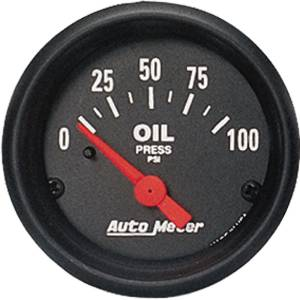 "Instrument Gauges - Auto Meter Z Series 2-1/16"" Oil Pressure Gauge. Electric 0-100 Ohm, Short Sweep Photo Main"
