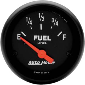 "Instrument Gauges - Auto Meter Z Series 2-1/16"" Fuel Gauge. Electric Gm 0-30 Ohm, Short Sweep Photo Main"