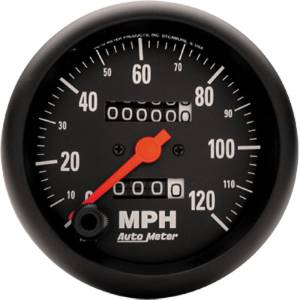 "Instrument Gauges - Auto Meter Z Series 3-3/8"" 0-120 Mph Speedometer. In-Dash Mount Photo Main"