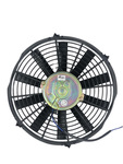 "Parts -  Radiator Electric Fan, 12"" Push Or Pull, 12v, Straight Blade 1390 CFM. Draws 8.6 Amps"