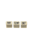 Chevrolet Parts -  Heater Knobs - Temp, Defrost & Air. Ivory (3 Pieces)