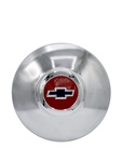 Chevrolet Parts -  Hub Cap - Modified For Artillery / Nostalgia Wheel, Red Center With Blue Bowtie
