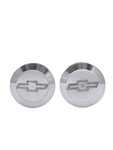 "Chevrolet Parts -  Bed Caps - Aluminum With Bowtie. Plugs Bedside Hole (Polished Aluminum). 1-1/4"" I.d."