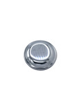 Gas Cap Non-Locking, Polished Stainless  (28-52 Car 28-57 Truck)