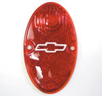 Chevrolet Parts -  Tail Light Lens With Bowtie, Glass