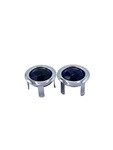 Parts -  Lens Blue Dots With Chrome Ring (You Install)
