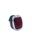 Chevrolet Parts -  Tail Light Assembly - Left Side, Plastic Lens, Black Housing With License Light