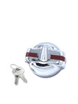 Chevrolet Parts -  Gas Cap - Locking Red Painted Stripe (Excpet 53-54 Wagon & Sedan Delivery) Outside Flange