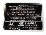 Chevrolet Parts -  Air Cleaner Decal
