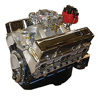 "Chevrolet Parts -  Crate Engine, GM - 355ci (Chevy Small Block) With Aluminum Heads - 375hp With Carb & Ignition ""Budget Stomper"""