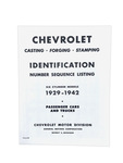 Chevrolet Parts -  Casting Number Identification Book