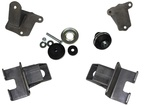 Chevrolet Parts -  Motor Mount Kit. Bolt-On For 1940 Chevy Cars With Non-Chassis Engineering IFS Kit, '58 & Up Small Block