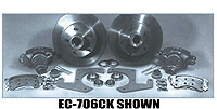 Chevy Parts -  Brake Disc Conversion Front- 39-40 Knee Action. Complete Kit - 5 Lug