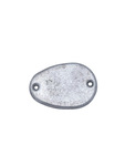 Parts -  License Light Delete Plate For 51-52  Rear Splash Apron
