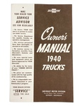 Chevrolet Parts -  Owners Manual - Chevy Truck, 1940