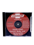 Chevrolet Parts -  Chevrolet Parts Book, On CD. 29-61 Cars, Trucks & 53-61 Corvette