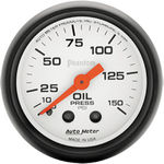 "Parts -  Instrument Gauges - Auto Meter Phantom Series 2-1/16"" Oil Pressure Gauge. Mechanical 0-150 Psi., Full Sweep"