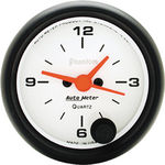 "Parts -  Instrument Gauges - Auto Meter Phantom Series 2-1/16"" Electric Clock"