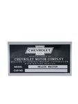 Chevrolet Parts -  Body Number Plate, Cowl End, Deluxe Master