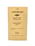 Chevrolet Parts -  Price Guide Booklet - Advertised Delivery