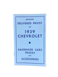 Chevrolet Parts -  Price Guide Booklet- Advertised Delivery