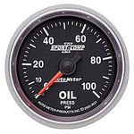 "Parts -  Instrument Gauges - Auto Meter Sport Comp II 2-1/16"" Oil Pressure Gauge. Mechanical 0-100 Psi, Full Sweep"