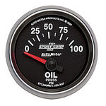 "Parts -  Instrument Gauges - Auto Meter Sport Comp II 2-1/16"" Oil Pressure Gauge. Mechanical 0-100 Psi, Short Sweep"