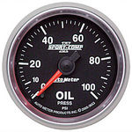 "Parts -  Instrument Gauges - Auto Meter Sport Comp II 2-1/16"" Oil Pressure Gauge. Electric 0-100 Psi, Full Sweep"