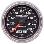 "Parts -  Instrument Gauges - Auto Meter Sport Comp II 2-1/16"" Water Temp Gauge. Electric 100-260 Deg., Full Sweep"