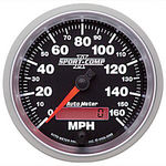 "Parts -  Instrument Gauges - Auto Meter Sport Comp II 3-3/8"" Speedometer. Electronic Programmable, 0-160 Mph"