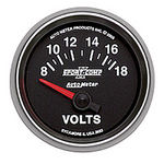 "Parts -  Instrument Gauges - Auto Meter Sport Comp II 2-1/16"" Voltmeter Gauge. Electric 8-18 Volts, Short Sweep"