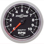 "Parts -  Instrument Gauges - Auto Meter Sport Comp II 3-3/8"" Tachometer. 0-10,000 Rpm"