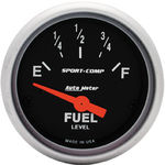 "Parts -  Instrument Gauges - Auto Meter Sport Comp Series 2-1/16"" Fuel Level Gauge. Electric Gm 0-30 Ohm., Short Sweep"