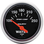 "Parts -  Instrument Gauges - Auto Meter Sport Comp Series 2-1/16"" Temp Gauge. Electric 100-250 Deg., Short Sweep"