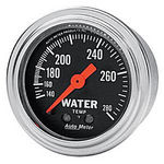 "Parts -  Instrument Gauges - Auto Meter Traditional Chrome Series 2-1/16"" Temp Gauge. Mechanical 140-280 Deg., Full Sweep"