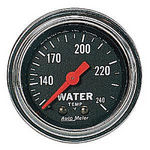"Parts -  Instrument Gauges - Auto Meter Traditional Chrome Series 2-1/16"" Temp Gauge. Mechanical 120-240 Deg., Full Sweep (6 Ft. Tubing)"