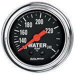 "Parts -  Instrument Gauges - Auto Meter Traditional Chrome Series 2-1/16"" Temp Gauge. Mechanical 120-240 Deg., Full Sweep (12 Ft. Tubing)"